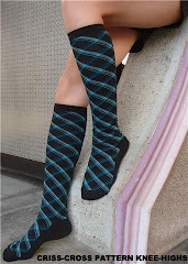 Criss-Cross Knee-Highs > colorful & modern, yet elegant