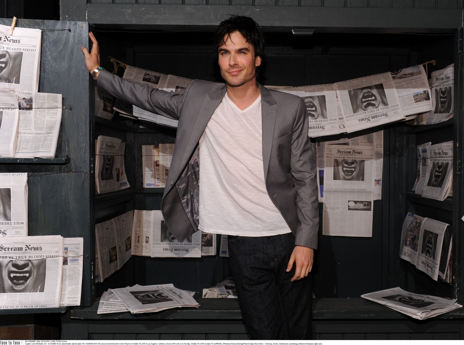 Ian somerhalder at the scream awards