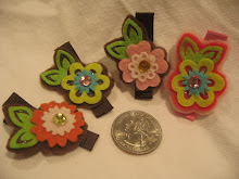 Small felt flowers 2 for $10
