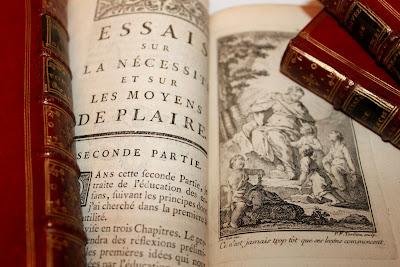 Les Oeuvres de Moncrif (1768). Superbe exemplaire relié en maroquin rouge de l'époque. dans Bibliophilie, imprimés anciens, incunables moncrif