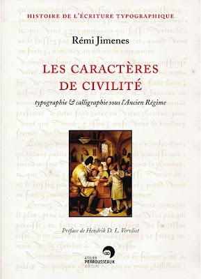 Caractères de civilité, typographie & calligraphie sous l'Ancien Régime dans Arts et métiers du livre et de l'édition Couverture