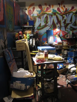 coreroc graffiti and studio mess
