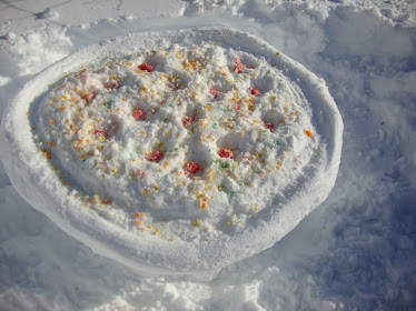 Snow Pizza I Made Outside