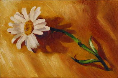 daisy yellow silk oil on canvas painting