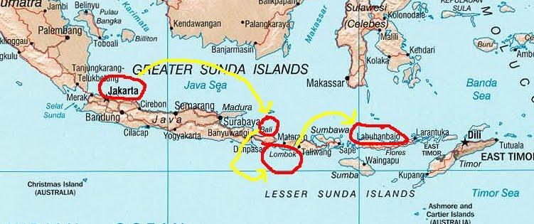 Остров комодо на карте мира