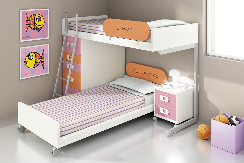 Beliches modernos mobiliario juvenil infantil crian a - Medidas camas infantiles ...