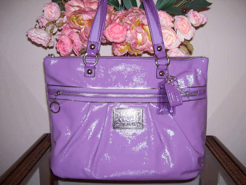 Shoppers and shopaholic please come in nwt coach poppy patent nwt coach poppy patent leather glam tote handbag 15791 mightylinksfo