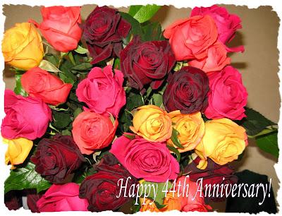 44th WEDDING ANNIVERSARY FLOWERS ROSES