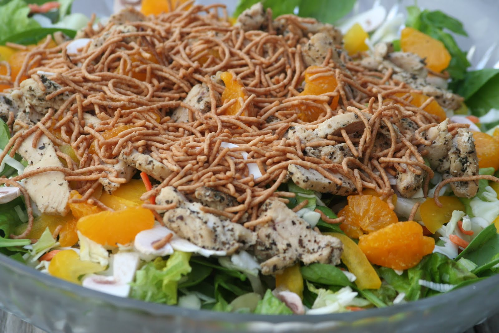 chicken salad with golden raisins and almonds asian spinach salad ...