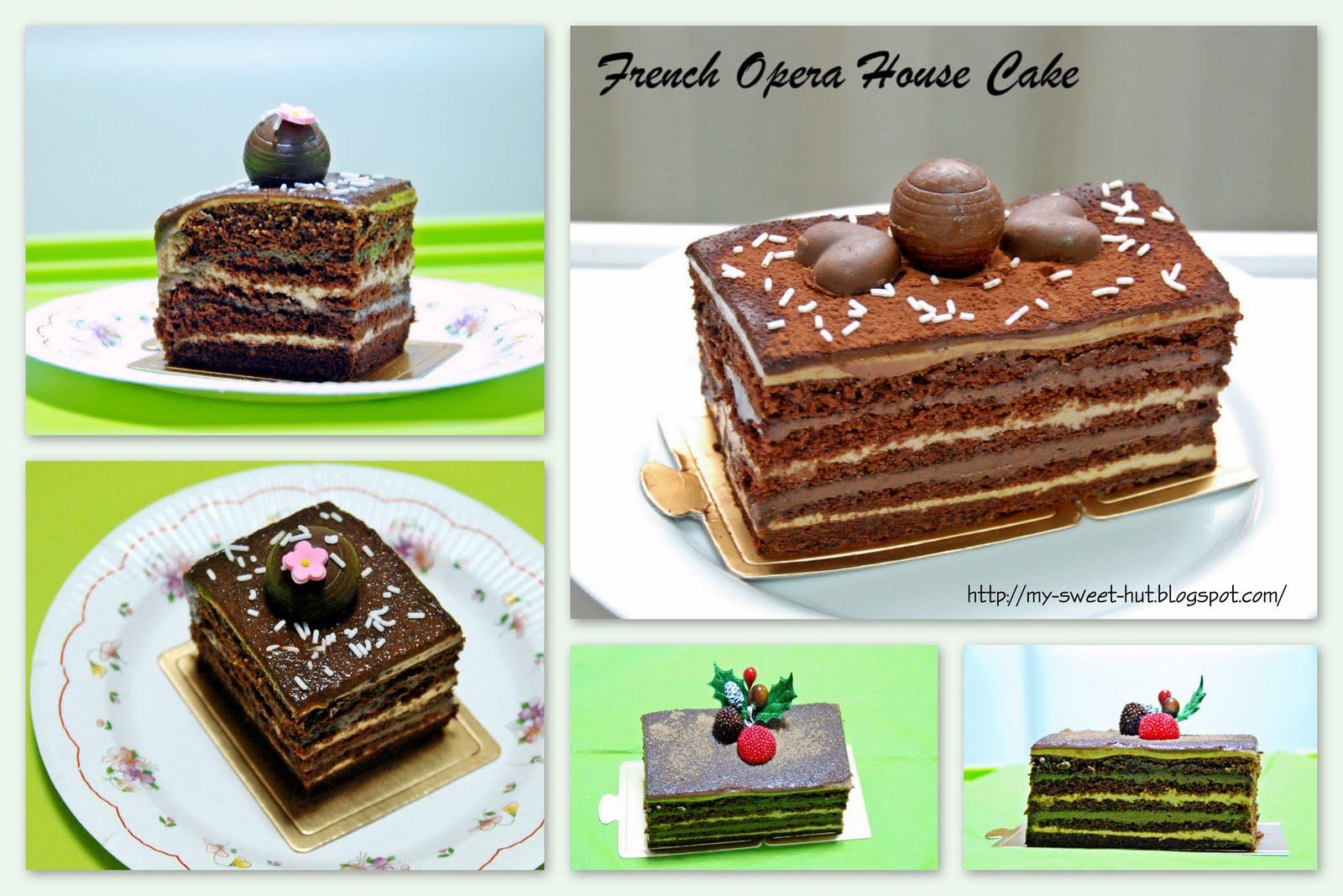Opera Cake Decoration Opera Cake Thinking of