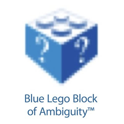 blue lego block of ambiguity tshirt Blue Lego Block of Ambiguity™ t shirt