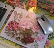 The Vintage Home Roses Mouse Mat