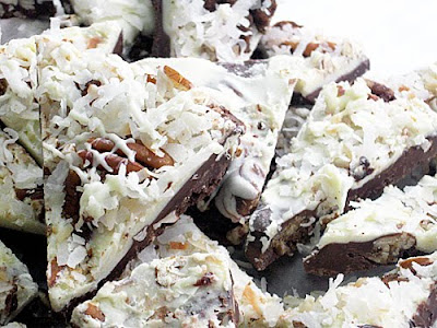 ... CHOCOLATE BARK, BUTTERMILK BACON PRALINES & BUCKEYE CANDY RECIPES