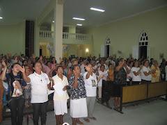 A igreja lotada para honra e glória do Senhor!