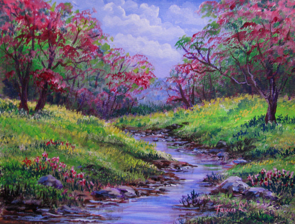 Spring Landscape Paintings The Image