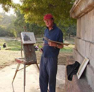 British artist Julian Barrow at the Lodi Gardens