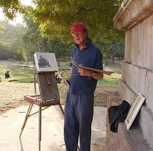 British artist Julian Barrow at the Lodi Gardens