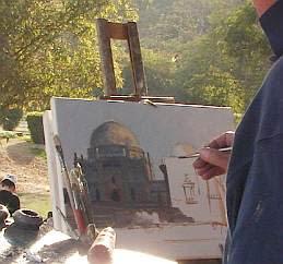 Julian Barrow working plein-air