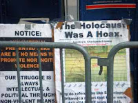 holocaust was a hoax placard