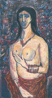 A nude by F.N.Souza 1962