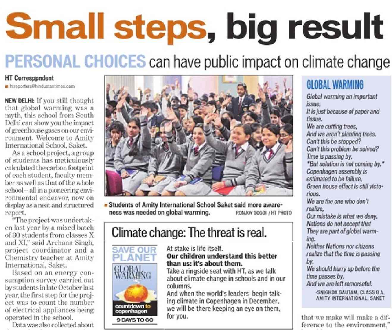 hindustan times climate change brainwashing in schools