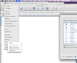 changing Find Next... shortcut in Microsoft Word 2008