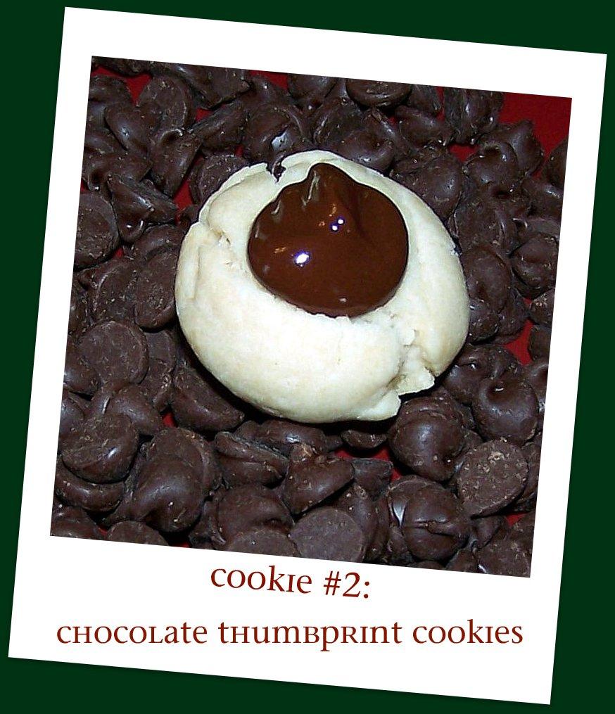 Olla-Podrida: Cookie #2 Chocolate Thumbprint Cookies