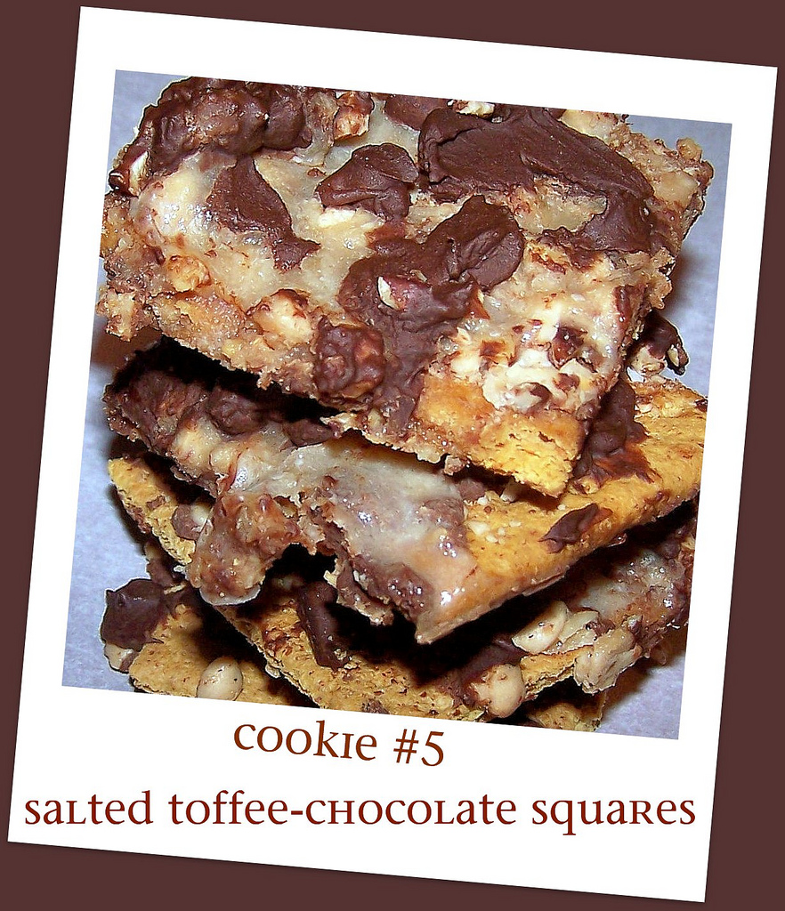 Olla-Podrida: Cookie #5 Salted Toffee-Chocolate Squares