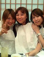 Kaori Nazuka, Nabatame Hitomi, and Koshimizu Ami (l-r) on Naba-sama's birthday