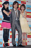 Ogawa Mana, Tsunku, Aya (l-r)