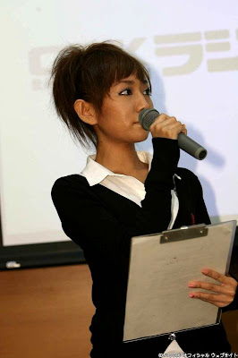 at an event announing her participation in some pro wrestling shows