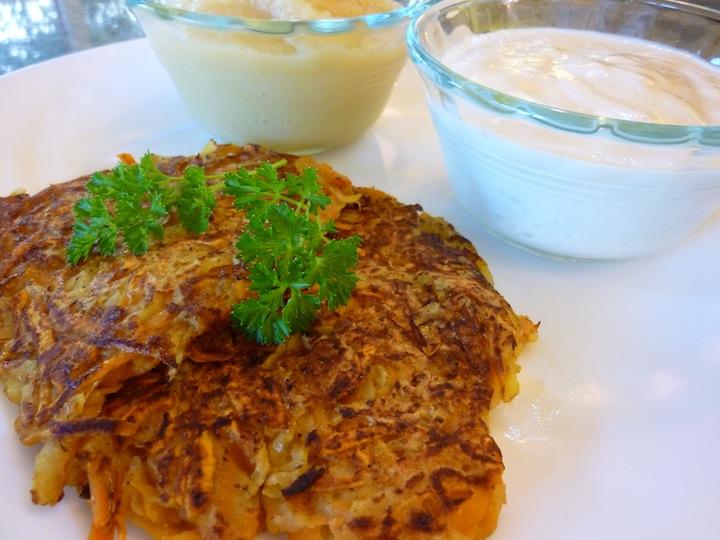 Foods For Long LifeLow Fat, Vegan Potato Latkes For Hanukkah