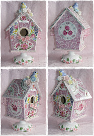 Shabby n chic mosaic birdhouse