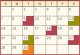 My Calendar of Events!