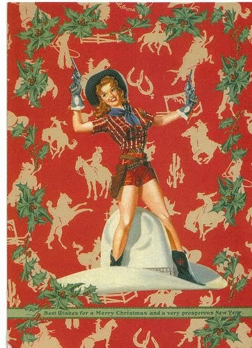 The Bizarre And Weird Strange Christmas Cards Cowgirl