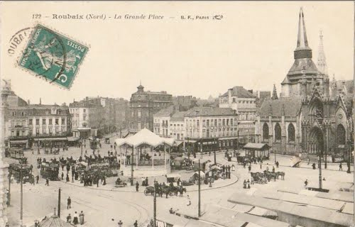 La Grand place de Roubaix en 1911
