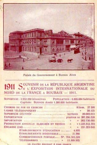 Cartes d'Argentine, souvenir de l'exposition