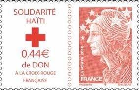 Un timbre « Solidarité Haïti »