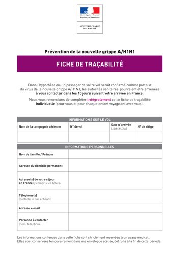 Fiche de traabilit
