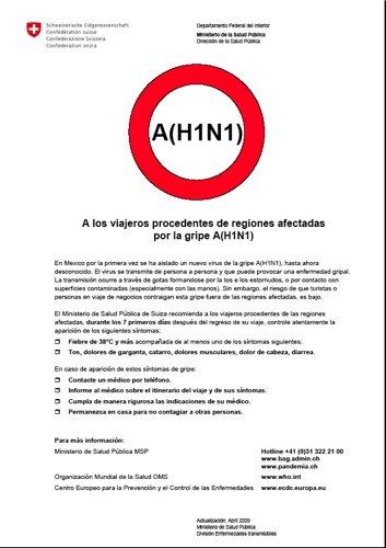 Informations en espagnol du service de santé suisse