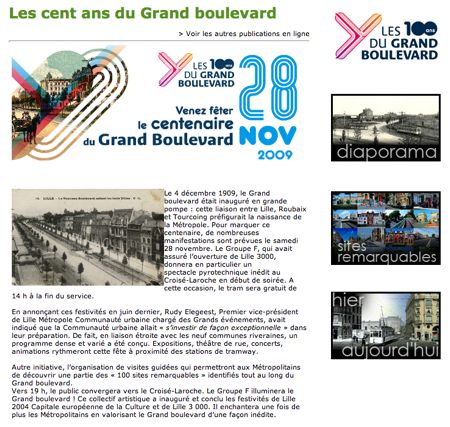 Les 100 ans du Grand Boulevard, le 28 novembre 2009