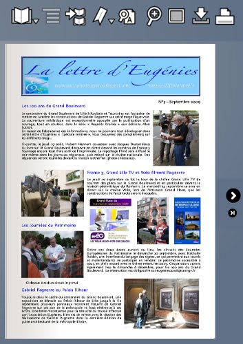 La lettre de septembre 2009