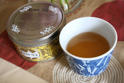 Kusmi Tea green jasmine tin cup