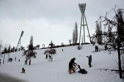 Mauerpark sledging snow