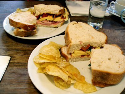 J and A cafe Clerkenwell soda bread sandwiches
