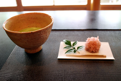 Japanese matcha and wagashi