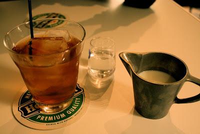 Iced Mugicha milk sugar syrup Kyoto