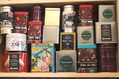 Tea cupboard tins