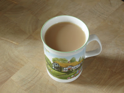 Country cottage cup of tea