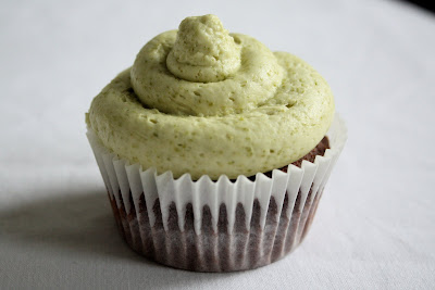 Green tea cupcake chocolate buttercream